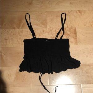 Black Wilfred Cropped Top Size XXS